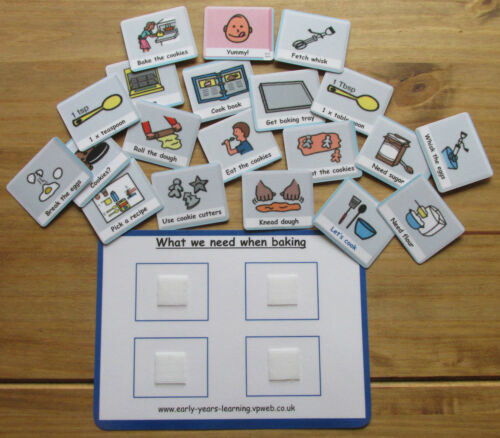 Let/'s learn how to cook cards~ Now next and later~Pecs~Autism ~ASD~SEN~Schools