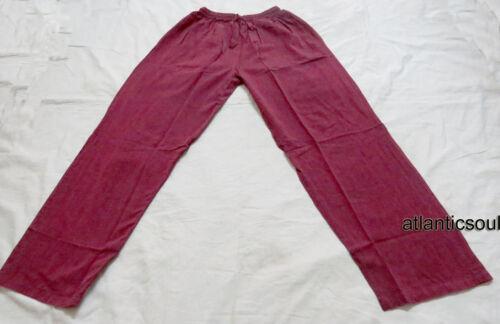 T814 XL artigianali Cotone Fatto in Casa Uomini Bordeaux Tinta Unita Estate Primavera Pantaloni Nepal