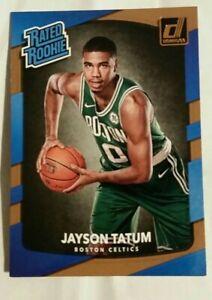 2017 Panini donruss rated rookie Jayson Tatum rookie card Boston Celtics star
