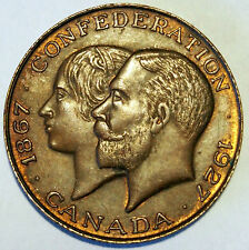 1867 - 1927    60 Years Confederation of Canada Medallion