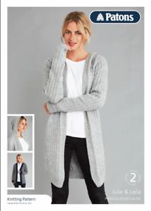 Patons Knitting Pattern Cardigan 2 Styles Fab Double ...