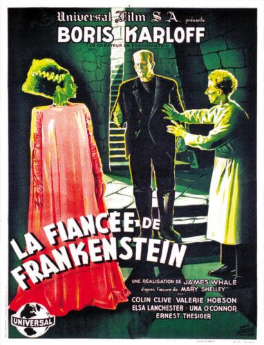 1935 The Bride of Frankenstein Boris Karloff Horror movie poster print 13