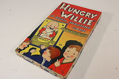 Hungry Willie A Bean Shooting Game Vintage 1940's Board Game In Original Box