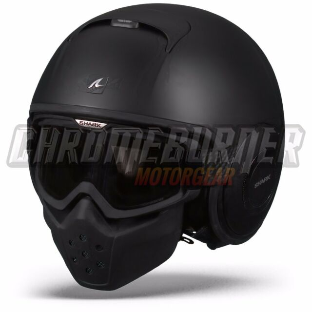 SHARK Raw / Drak Blank Black MATTE KMA MATT, Motorcycle Helmet, NEW!