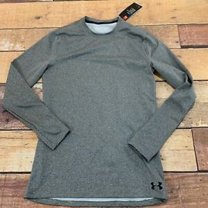 Under-Armour-Mens-Coldgear-Baselayer-Shirt-Size-Medium-Gray-New-NWT-B229