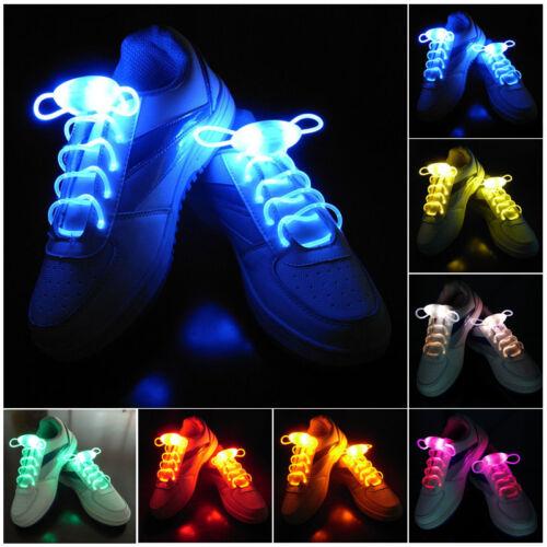 1 Paar LED Blitz leuchtend Schnürsenkel glühend Band Party Disco Requisiten