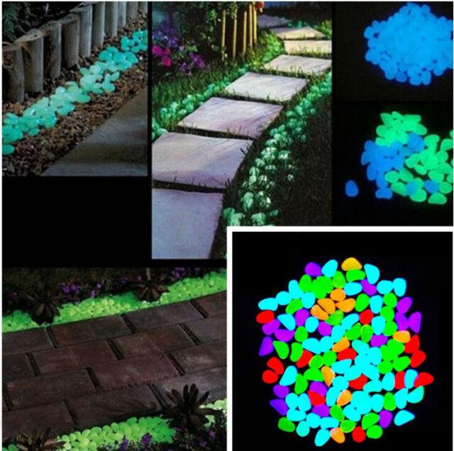 10x Colorful Glow in The Dark Stones Pebbles Rock FISH TANK AQUARIUM Fashion Hot