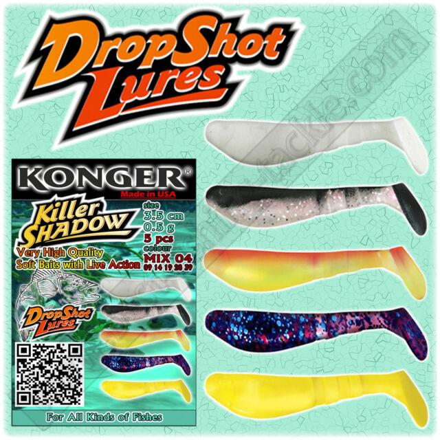 Drop Shot Lures Soft Bait Micro Fish 3.5cm Kopyto Jig Head LRF Perch Fishing