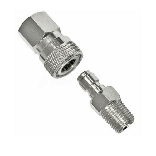 Female Quick Disconnect 1//8NPT Set CO2 HPA Compressed Air Fill Adapter Male