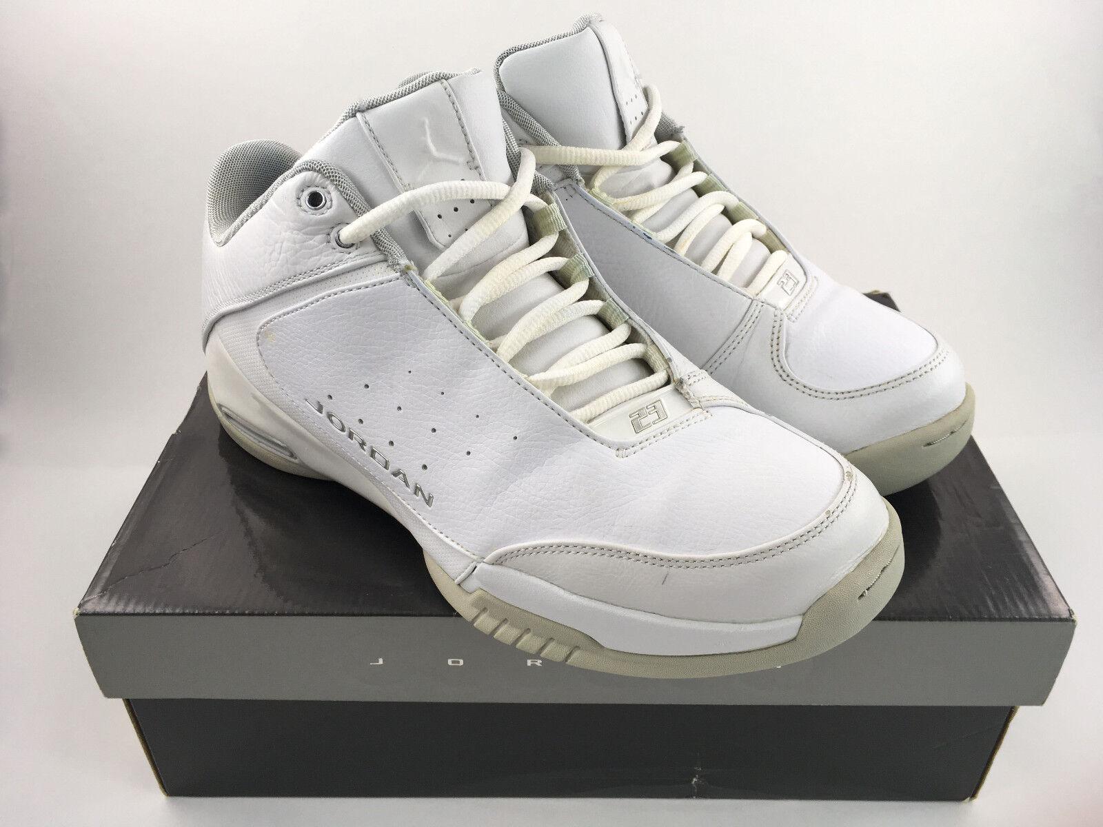 Jordan Team Strong Low Shoes 2006 -White/Metallic Silver Sz 9.5 - 313534107-RARE
