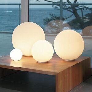 New Modern Globe Ball Round Glass Floor Table Desk