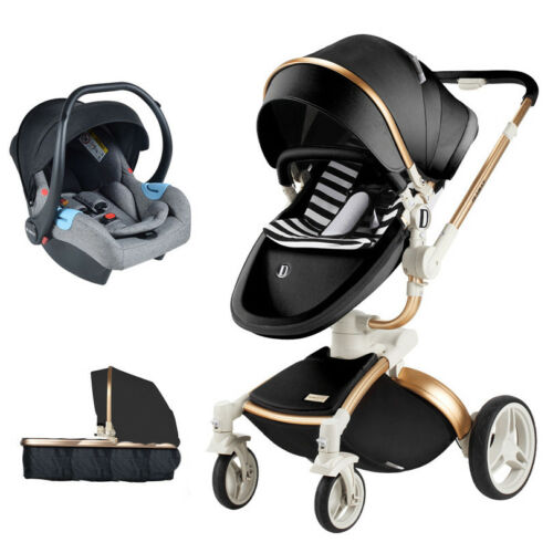 Baby Stroller 3 in 1 travel system Bassinet pram foldable Pushchair car seat new