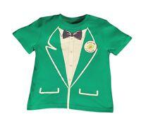 Jumping Bean Boy's Green Tux Print Kiss Me I'm Irish T-shirt 2t 3t 4t