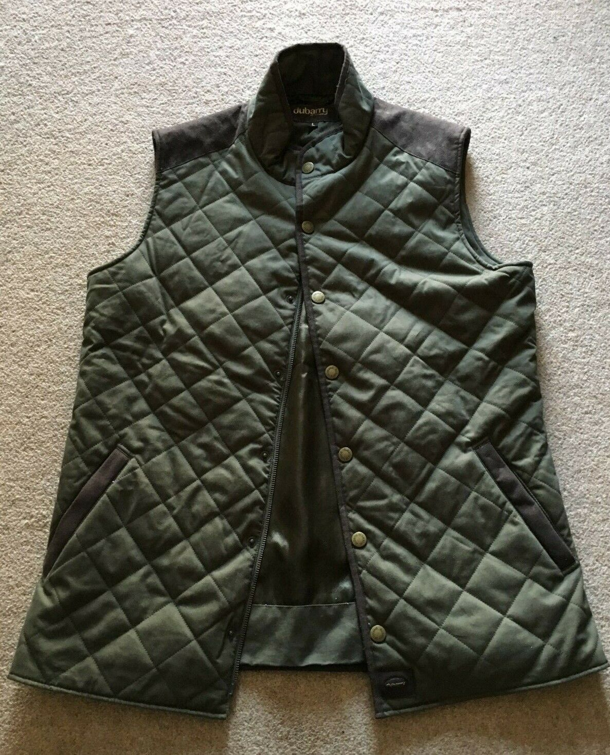 Dubarry Green Womens Quilted Gilet Body Warmer Country Style Equestrian Large