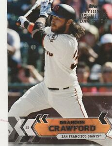Details About 2017 Topps National Baseball Card Day Brandon Crawford Ss Giants 20 Ssp