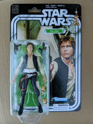 40th Anniversary Han Solo a New Hope Star Wars Black Mint On Card 6 Inch