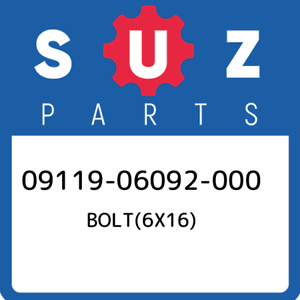 09119-06092-000-Suzuki-Bolt-6x16-0911906092000-New-Genuine-OEM-Part