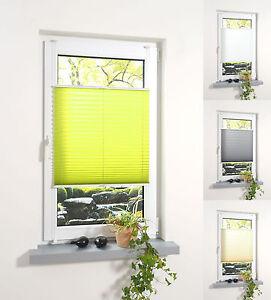 Das Bild Wird Geladen Klemmfix Plissee Blickdicht Faltrollo Fenster Tuer Rollo Jalousie