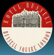 ALTER KOFFERAUFKLEBER | HOTEL RUSSEL LONDON | VINTAGE LUGGAGE LABEL 50er