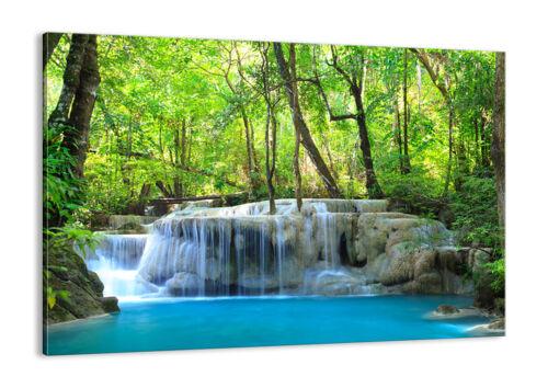 QUADRO MODERNO Stampa su tela Cascata Foresta Natura 30 FORME IT 2664