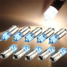 10x BAX9S H6W/433c 434 Xenon 6W Standlicht Seitenleuchte Birne Lampe Weiß DC 12V