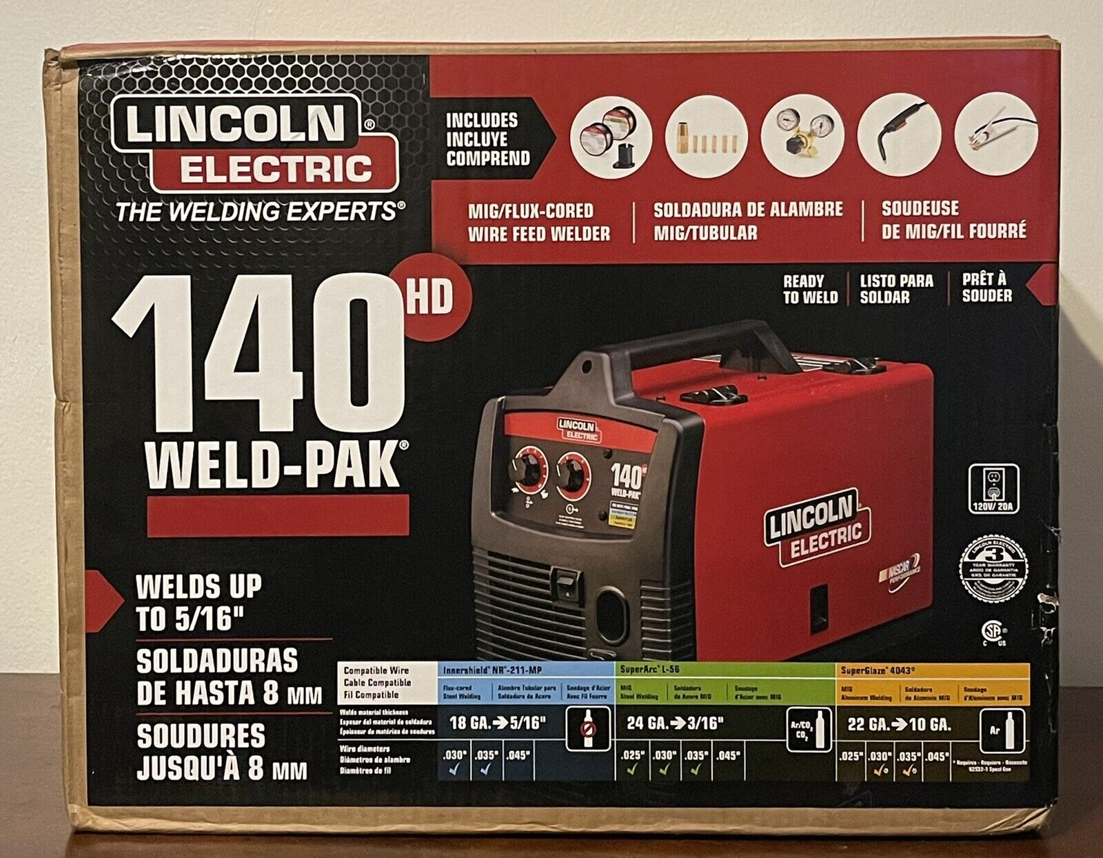 New Lincoln electric 140 hd weld-pak 110 Welder K2514-1 Mig Wire Feed NEW.