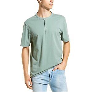 Black Vince Mens Garment Dye Henley XL