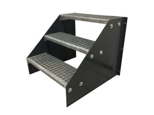 3 Etapes autonomes Acier Escalier Stand Escalier Largeur 70 cm hauteur 63 cm Anthracite
