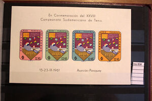 1961-PARAGUAY-TENNIS-CHAMPIONSHIP-IMPERFERATE-MNH-ros838