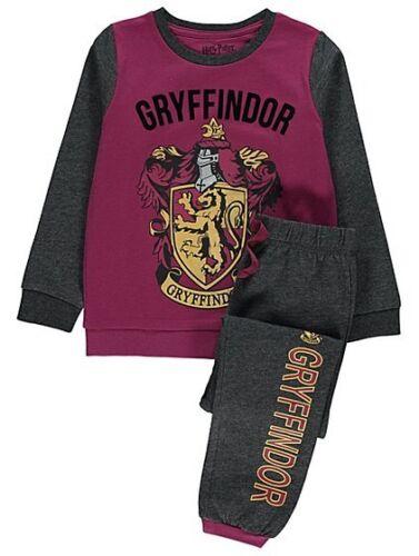 Boys /& Girls Harry Potter Gryffindor House 100/% coton Pyjamas 4-13 Ans