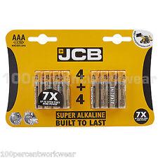 1 x 8 Pack of AAA JCB Super Alkaline Batteries for MP3 Digital Camera RC Cars