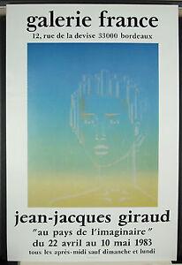 Jean-Jacques-Giraud-Galerie-Francia-1983-Bordeaux-Manifesto-Esposizione