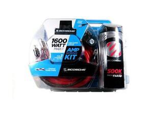 scosche kpca4c 4 gauge 1600 watt amp wiring kit w capacitor ebay rh ebay com scosche amp wiring kit 1600 watt scosche wiring kit india