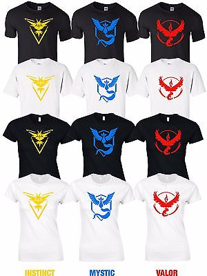Realistisch Pokemon Go T Shirt Team Valor Mystic Instinct T Shirts Ladies Kids Boys Girls Go