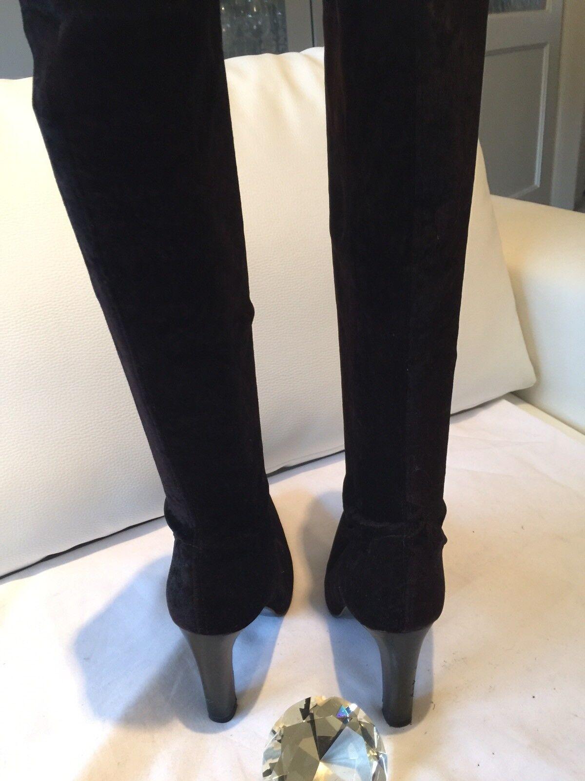 Schwarze Samtstiefel Stiefel High Heels Gr.37 Gr.37 Gr.37 NEU  | Bestellung willkommen  | Sale Outlet  00d3b2
