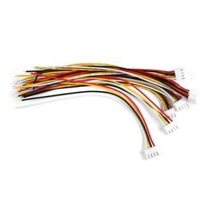 2x (10 juncos 3s JST-xh conector enchufe 4 pin servo verlaengerungskabel 1 f1m