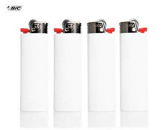 BIC White Classic Full Size Lighters