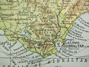 Map South Of Spain.Details About 1919 Large Map South West Spain Strait Of Gibraltar Cadiz Seville Portugal