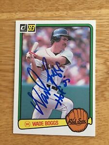 Red Sox Wade Boggs signed 1983 Donruss ROOKIE CARD