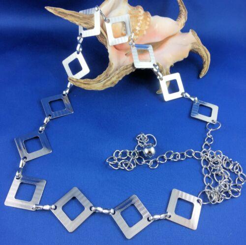 60/'s Hippy Belt Silver Color Triangles Cosplay Adjustable 55 cm////105 cm Unisex