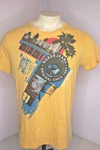 c3b9d8c9ffdb Guess Original Brand 1981 Yellow T-Shirt Miami Beach Sunshine State ...