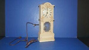Vintage SWING USA Metal Mantel Shelf Electric Pendulum Clock - Needs Maintenance
