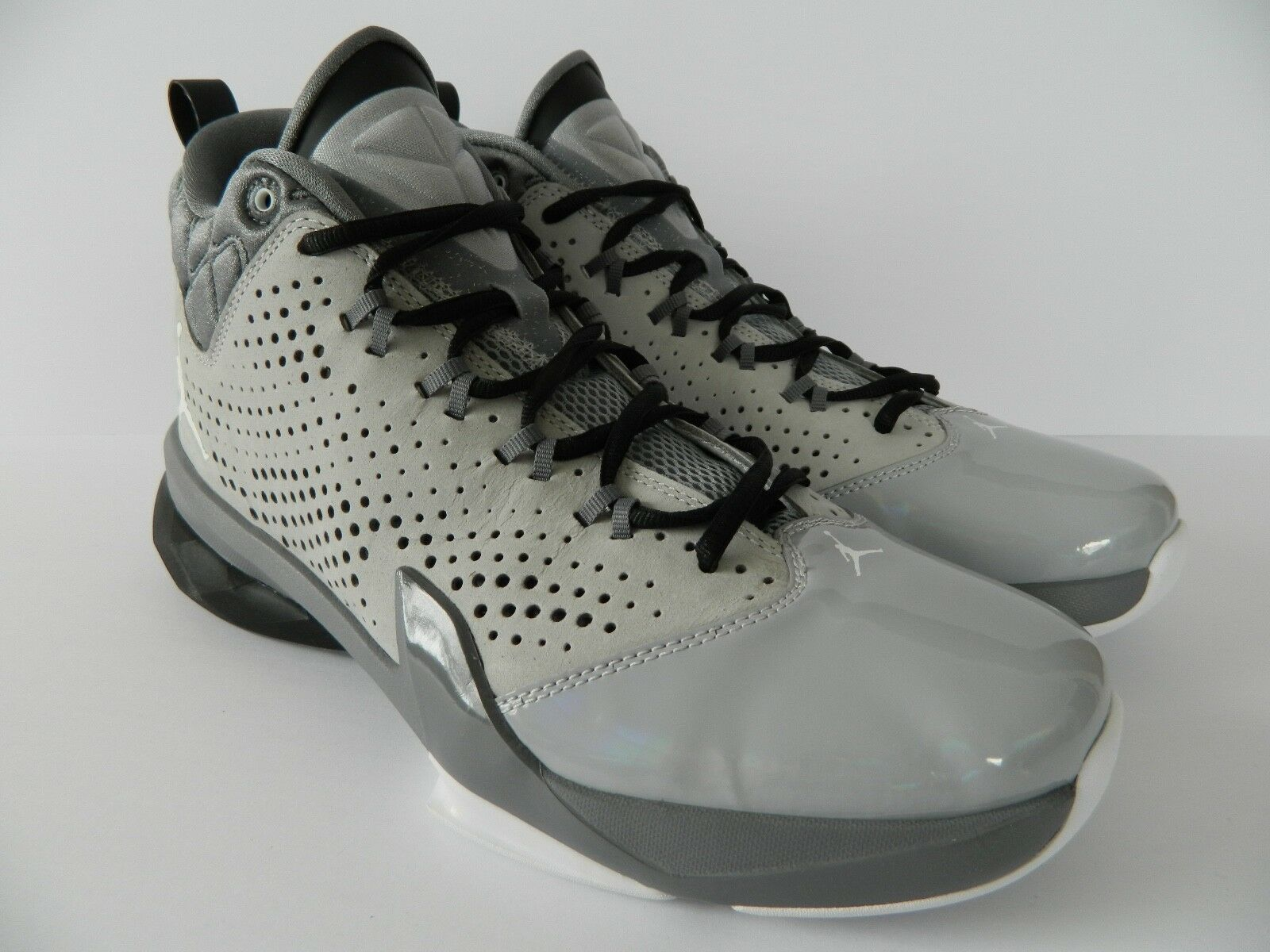 Nike Jordan Flight Time 14.5  ( Wolf Grey Wht-Cool Grey-Blk) ( 654272 003 ) NIB