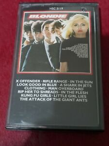 BLONDIE: RARE Self Titled Debut Cassette Tape Imported From England.