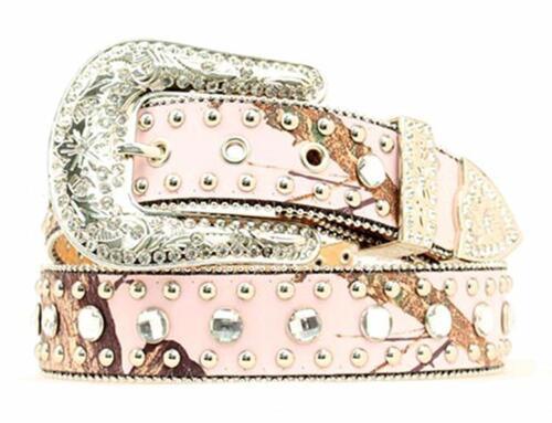 Blazin Roxx Western Womens Belt Crystals Bling Pink Camo N3514830