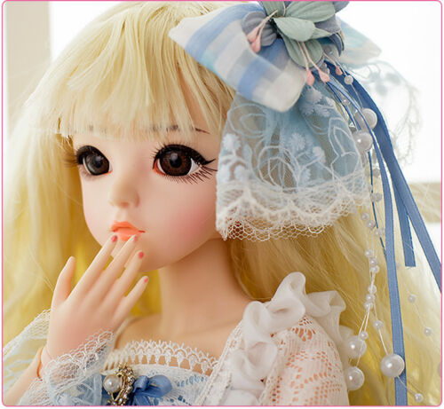 Clothes Full Set 1//3 60cm BJD Dolls Mini Girl Doll Body FREE FACE MAKE UP EYES