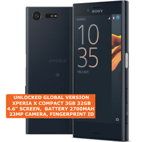 """Sony Xperia X Compact f5321 3/32gb Hexa Coeur 23mp Digitales 4.6 """" Android 4g"""