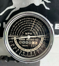 John Deere 50 Tachometer Original Ab4736r Tach Nice Patina Rare Restored