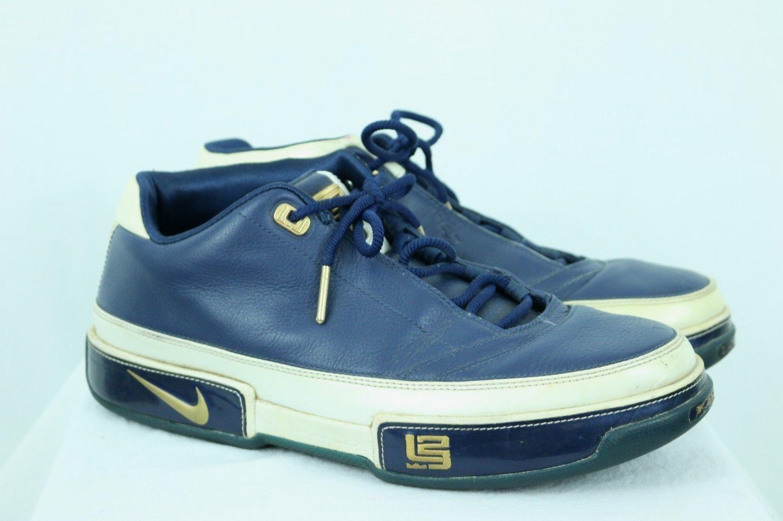 Nike Uomo Zoom Lebron Low ST Navy / White / Gold Size 10 King James Euro 44