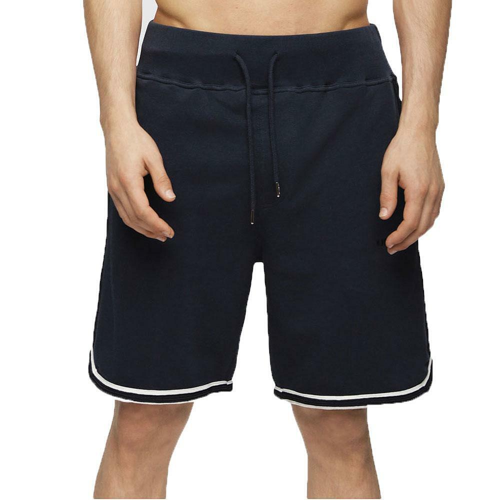 Diesel UMLB-Pan Shorts Logo Lounge Tipped Sweat Shorts - Navy